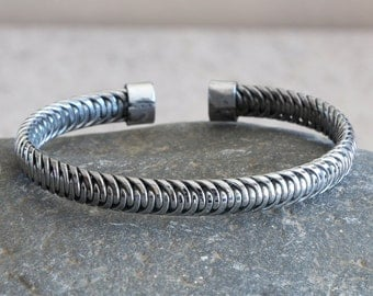 Men's Cuff Bracelet - Mens Bangle - Mens Steel Bracelet - Men's Steel Bangle - Women's Steel Bangle Bracelet - Steel Bracelet - Steel Bangle