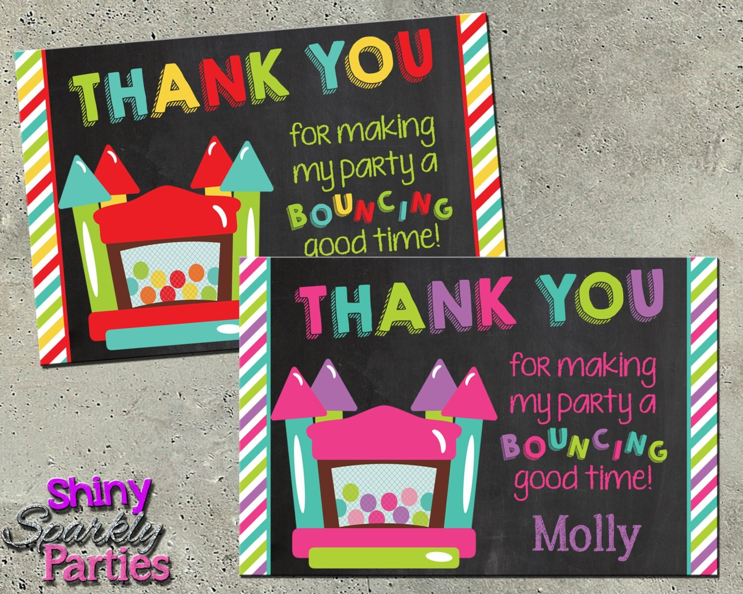 Thank You House: BOUNCE HOUSE THANK You Card Bounce House Thank You Note