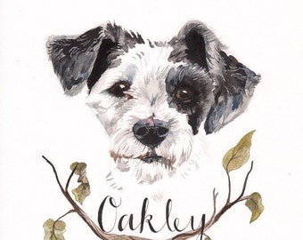 Pet Portrait Watercolor, pet portrait painting, watercolor pet portrait, custom pet portrait