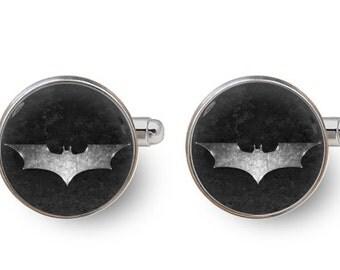 batman cufflinks superheros cufflinks dark knight cufflinks groomsmen -with gift box