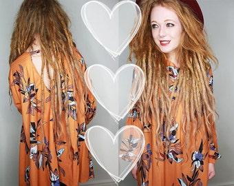 Orange Dress With Floral Print