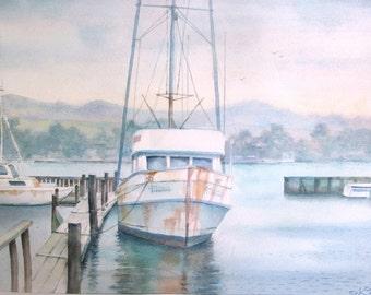 The wishing boat in the Bodega Bay