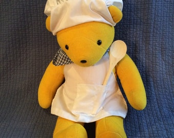 Vintage North American Bear Co. Yellow Chef Bear