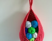 Crochet hanging basket toy storage bathroom storage nursery storage organiser