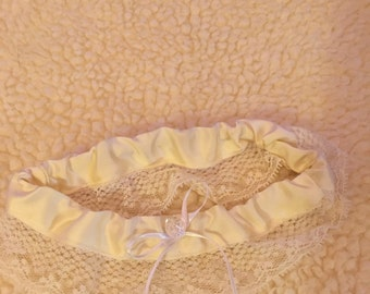 Off White Satin Wedding Garter