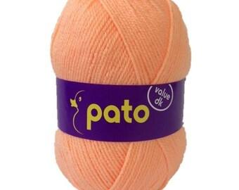 New! PATO Value  DK yarn,PEACH, 100% acrylic, 100g