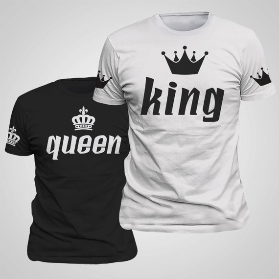 king amp queen couple matching shirts with sleeve by