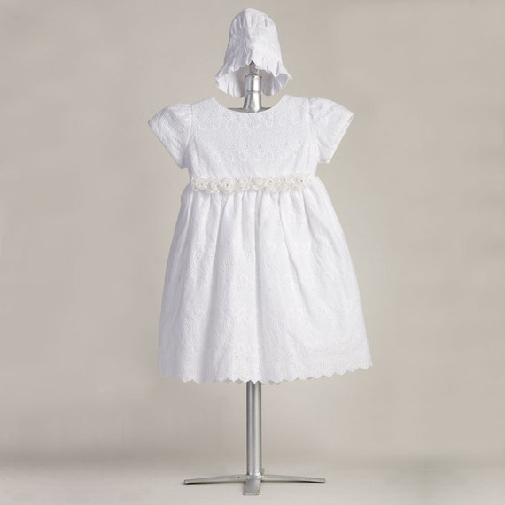 cotton eyelet dress be7301 baptism cotton dress baby dress