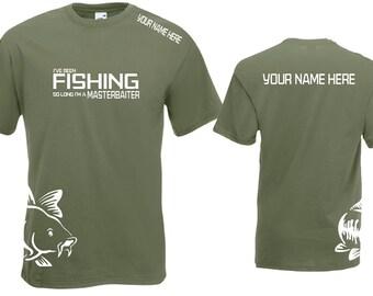 Personalised Fishing T-Shirt Masterbaiter TShirt Funny Tshirt  Father's Day  Carp Fishing Sea Fishing Course Fishing Fly Fishing