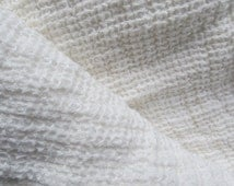 Linen fabric,linen bedding,rustic or modern living, bed blanket, waffle textured,baby blanket fabric,  linen waffer fabric