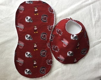 University of South Carolina bib and burp set