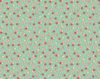1 Yard Bundle Farm Girl by October Afternoon for Riley Blake Designs 5024 Teal Pie Tins
