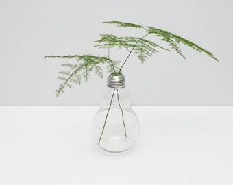 Single lightbulb vase