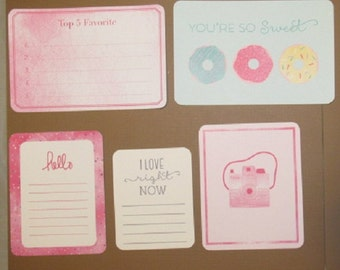Sweet Pastels Journaling Cards---Set of 21 Cards Various Sizes