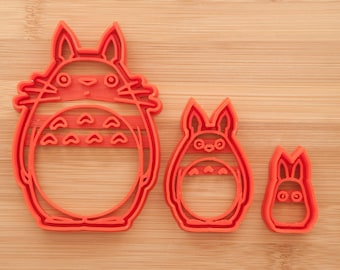 Totoro cookie cutter. O Totoro, Chu Totoro, Chibi Totoro.   Totoro gift.