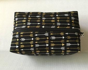 Handmade Zippered Box Pouch