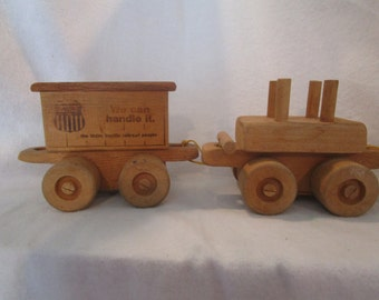 Toy train, Wood train, UP train, train cars, vintage Union Pacific, Union Pacific collector, collector trains, train décor, toy train