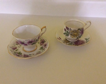 Teacups two fine bone china