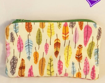 Colorful Feather Coin Pouch