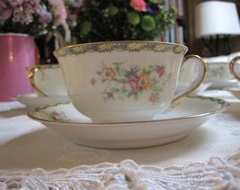 Teacups  Saucers by Morimura