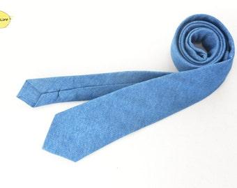 Denim Like Necktie, Blue Necktie, Modern Necktie