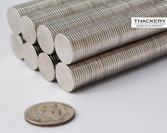 """12mm X 1mm (15/32"""") DISK MAGNETS craft / refrigerator / project - 50 / 100 / 250 pcs - STRONG! great quality - Neodymium - rare Earth (B5)"""