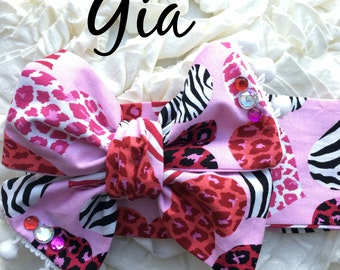 Gia Valentine headwrap Homemade.