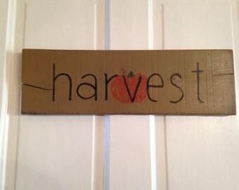 Harvest Wooden Sign
