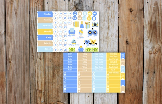 Flower Pop Planner Stickers Kit (7 pages) | Summer Planner Sticker Kit | for use with ERIN CONDREN LifePlanner
