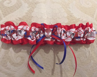 Spider-Man wedding garter