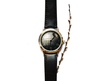 Death star- Star wars- Leather band-Free shipping