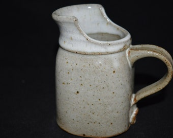 Pottery Creamer / creamer / pitcher / small pitcher / pottery pitcher / pottery / gray pottery / gray / grey / speckled / speckled pottery