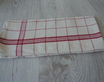French vintage metis linen tea towel / torchon  (9999)