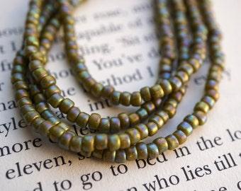 Olive Iris, Seed Beads, Toho Beads