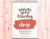 Words Gone Brushy: Dog Breeds - Traceable Brush Letter Practice Worksheets