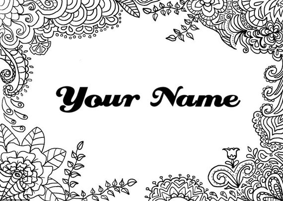 Printable Coloring Pages That Say Your Name Printable