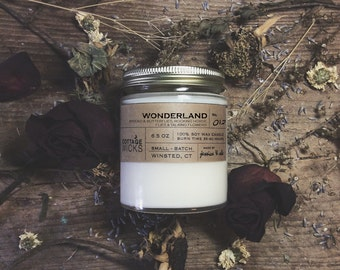 Wonderland Scented Soy Candles Artisanal Small Batch Hand Poured Made in New England Soy Candle