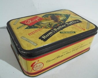 Vintage British Made Sharps Rum and Toffee Tin