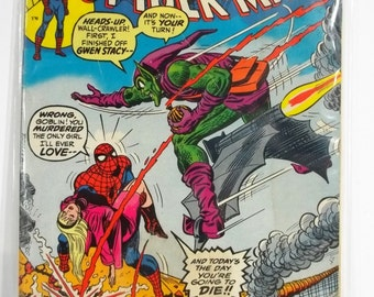 Amazing Spiderman #122; Key Issue: Green Goblin's Last Stand - Vintage Marvel Bronze Age Comic Book