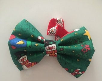 Do You Want to Build a Christmas Snowman Dog Bowtie