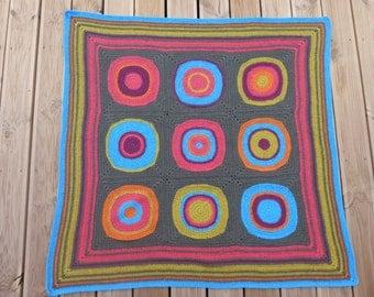 Handmade Circles Crochet Blanket
