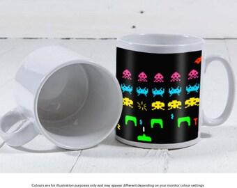 Space Invaders Retro Gaming Mug 11oz - Create your own mug