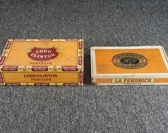 Vintage Assorted Lot Of 2 Cigar Boxes