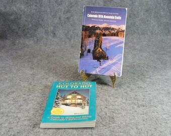 Colorado Mountain Hut Book Collection 2 Books C. 1991-1992.