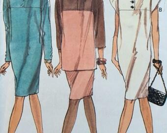 Vogue 7962 Dress Skirt Top Pattern 20-22-24 UNCUT
