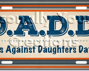 Gift For Dad License Plate, Dad Birthday Gift