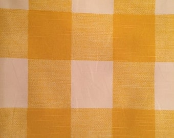 Fabric Baby Gate-yellow and creamy-white large check