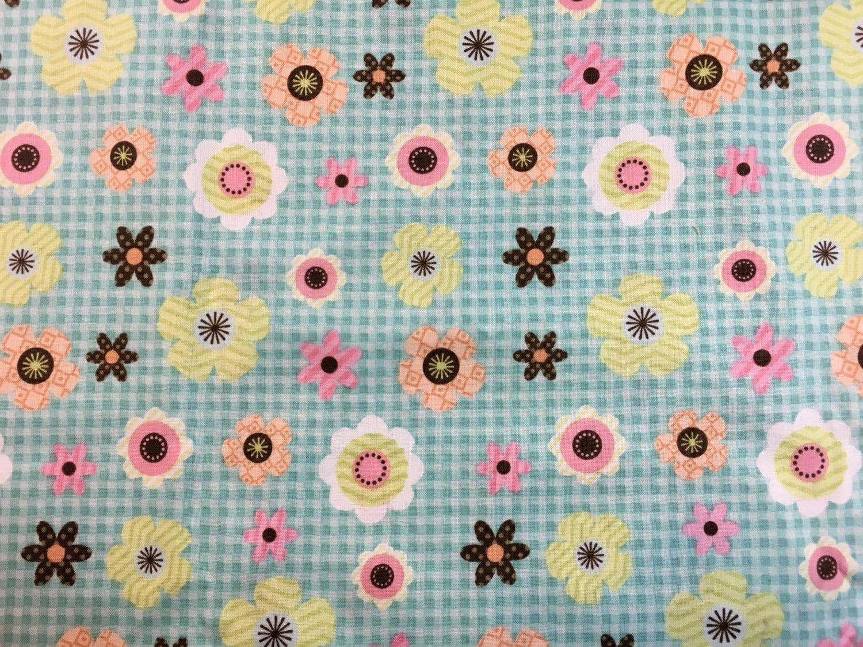 Daisy cotton fabric baby material nursery fabric nursery for Nursery cotton fabric