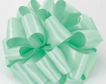 "New 1 yards Single Faced Mint Satin Ribbon 5/8"" wide, Mint Wedding Ribbon"