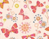 Butterflies - Natural Trail - Dashwood Studio Fabric Fat Quarters 100% cotton quilting dressmaking nursery floral UK Shop